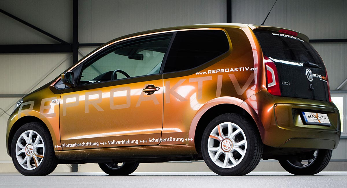 VW Up - Color Flow Vollfolierung