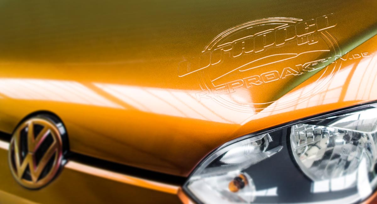 VW Up - Color Flow Vollfolierung mit 3D - Relief