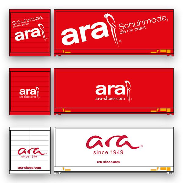 ara - Rebranding Phasen