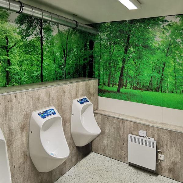 Dekoration eines WC - Bereiches