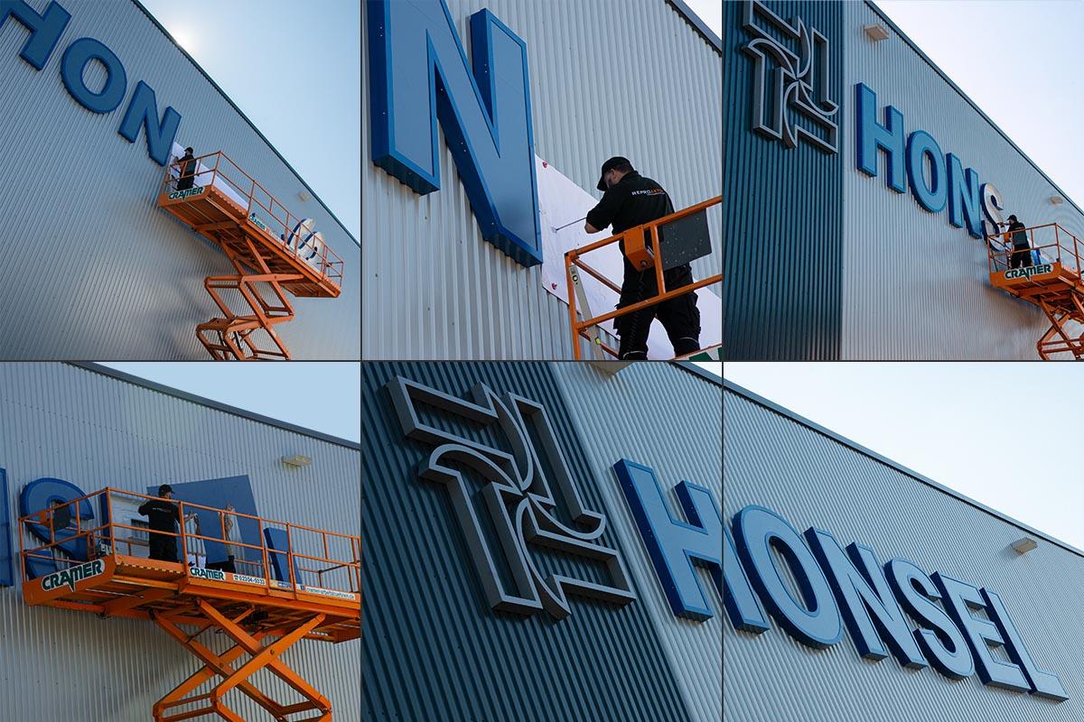 Honsel - Montage einer Profilbuchstabenanlage